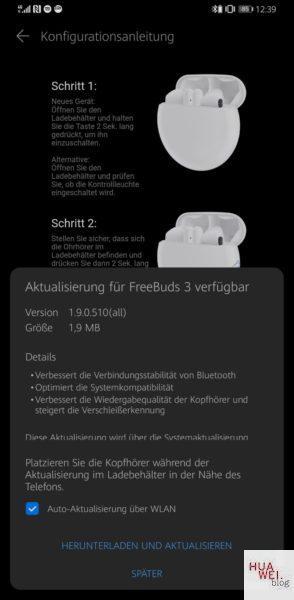 HUAWEI Freebuds 3 Firmwareupdate bringt isochrone Dual-Channel-Übertragung 3