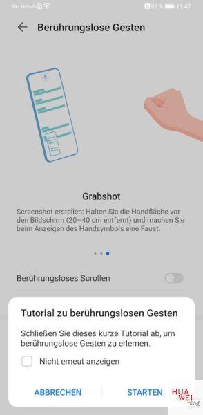 HUAWEI Mate 30 Pro Screenshot erstellen Tutorial Anleitung - Tutorial zu berührungslosen Gesten