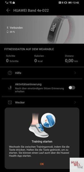 HUAWEI Band 4 und 4e - Fit in den Frühling 11
