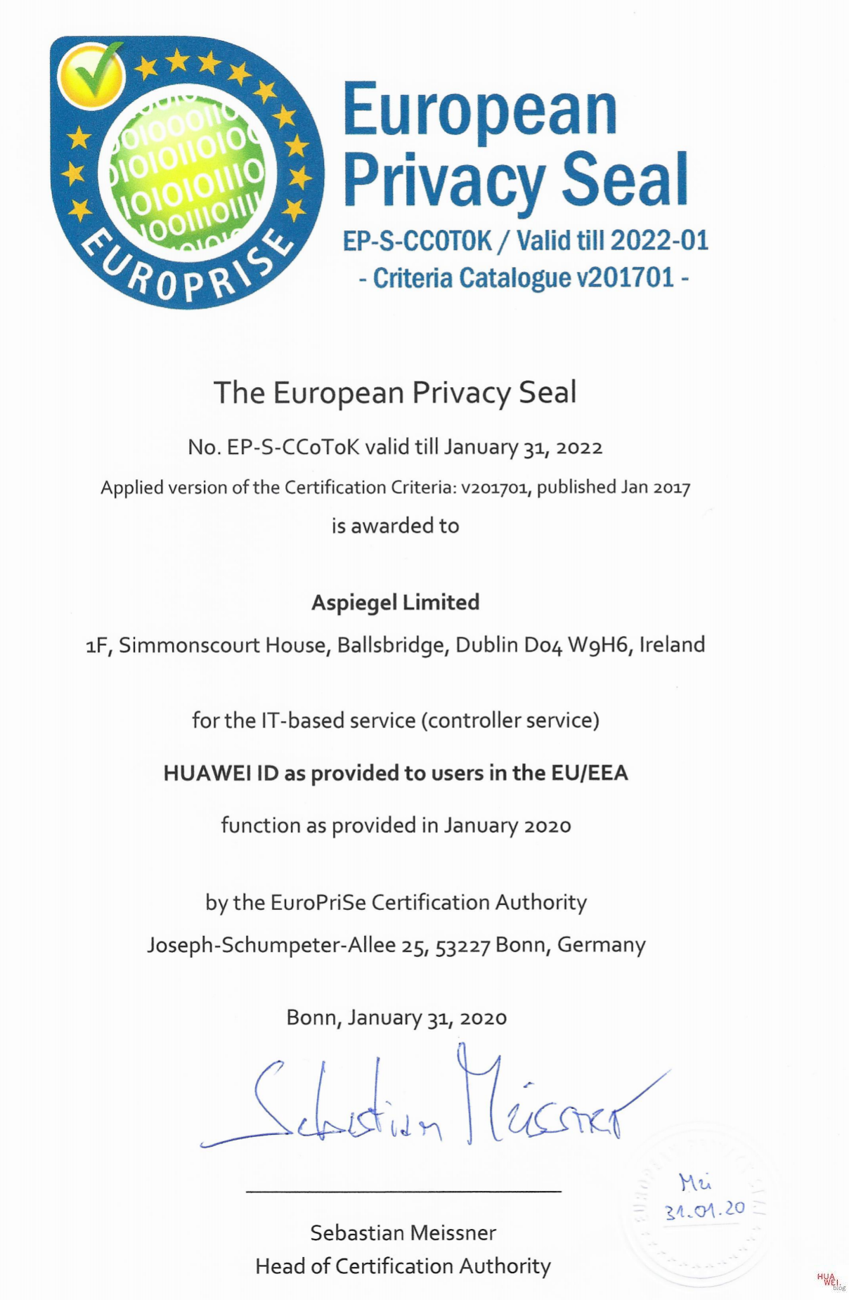 European Privacy Seal