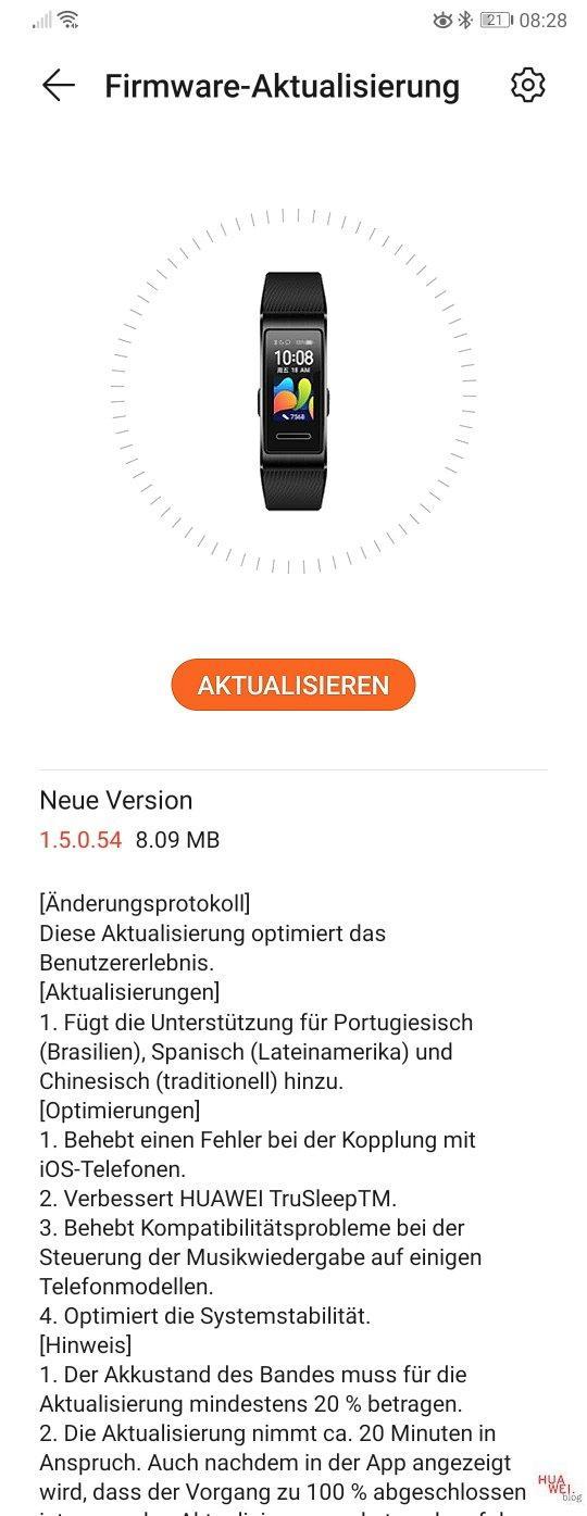 Band 4 Update 1.5.0.54