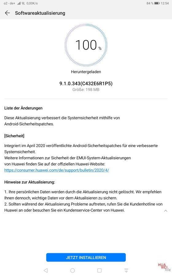 MediaPad M5 10.8 LTE Aprilpatch 2020