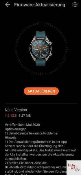 HUAWEI Watch GT und GT2e - Firmware Update bringt neue Funktionen 4