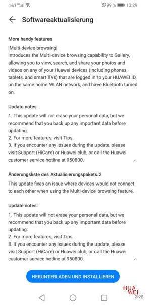 Mate 20 X (China) - das EMUI 10.1 Update ist ab heute verfügbar 3