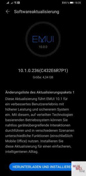 HEUREKA! HUAWEI Mate 30 Pro endlich mit EMUI 10.1 Update 1