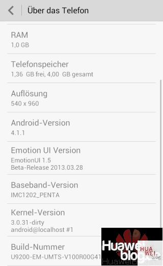 Huawei Ascend P1 Jelly Bean B336