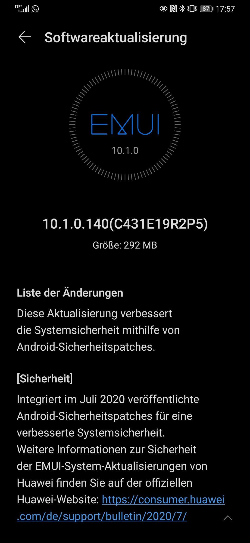 MediaPad M5 10.8, P30 und P30 Pro NE – Julipatch 2020 ist da 1