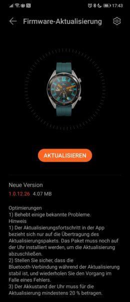 Huawei Watch GT erhält Fehlerbehebungen 1