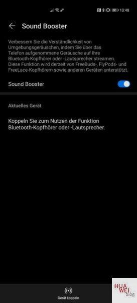 Huawei P40 Pro Firmwareupdate Sound Booster