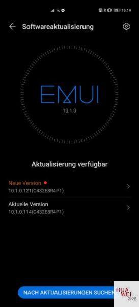 HUAWEI P40 Pro Firmwareupdate 10.1.0.121 April 2020