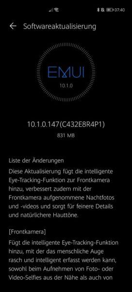 Huawei P40 Pro Firmwareupdate - Übersicht 19