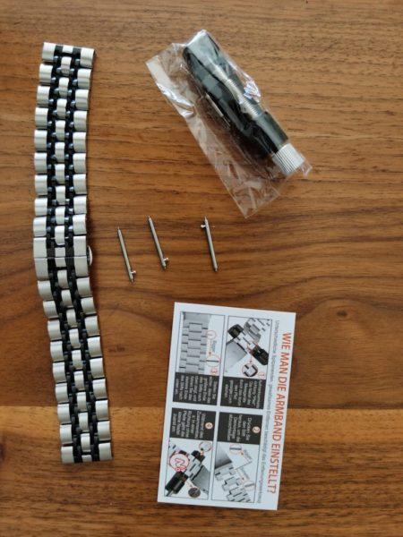 HUAWEI Watch Gt2e - Armbänder im Test - Metall - Gliederarmband - Verpackungsinhalt
