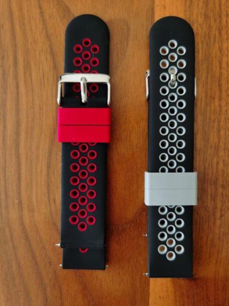 HUAWEI Watch Gt2e - Armbänder im Test - Vergleich Rot Schwarz mit Grau Schwarz