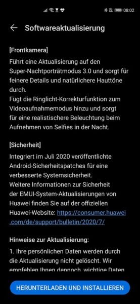 Huawei P40 Pro Firmwareupdate - Übersicht 22