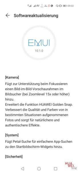 Huawei P40 Pro Firmwareupdate - Übersicht 27