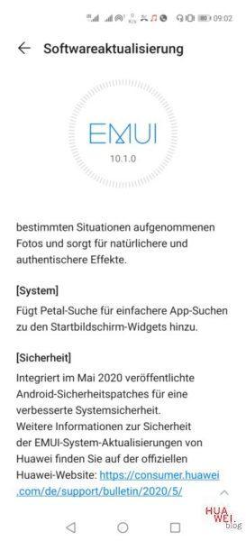 Huawei P40 Pro Firmwareupdate - Übersicht 28
