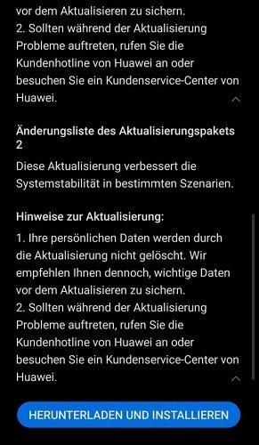 Firmware Update HUAWEI P30 Sicherheitspatch August