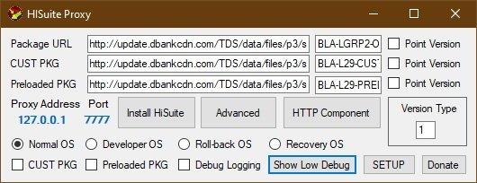 Downgrade HiSuite Proxy New