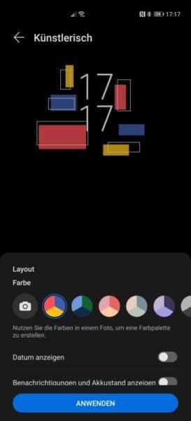 EMUI 11 Funktionen AOD