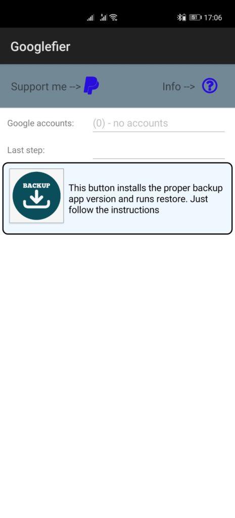Backup App wiederherstellen Googlefier