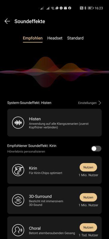 HUAWEI Music Soundeffekte