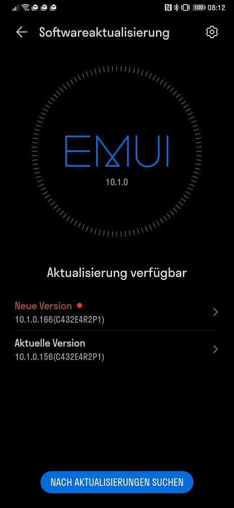 HUAWEI Mate Xs Firmwareupdate 10.1.0.166