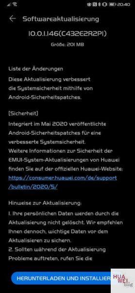 HUAWEI Mate Xs Firmwareupdate Changelog