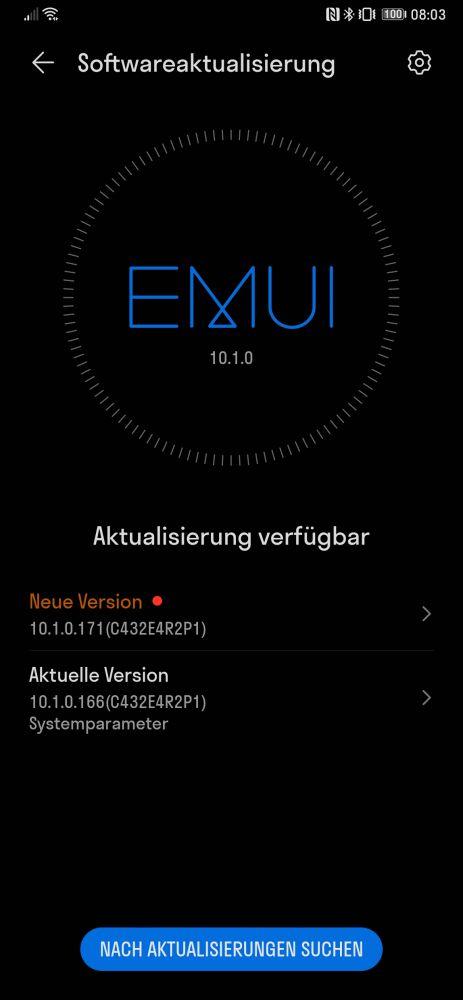 HUAWEI Mate Xs Firmwareupdate 10.1.0.171