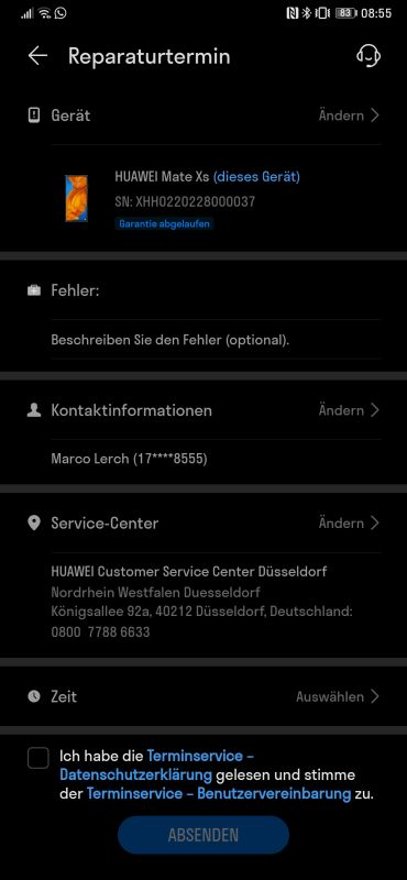 HUAWEI Support App Reparatur