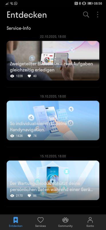 HUAWEI Support App Anleitungen