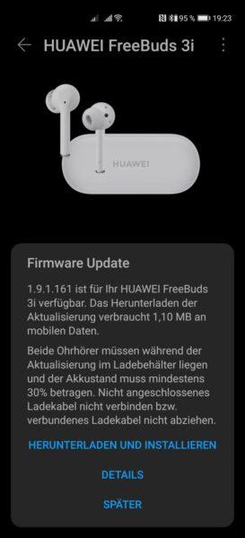 HUAWEI FreeBuds 3i mit neuem Firmware Update 1