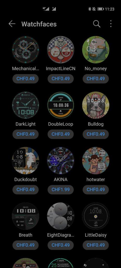 Endlich Watchfaces kaufen in der HUAWEI Health App! 1