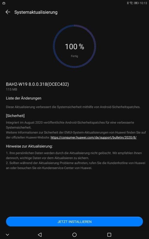 Mediapad M5 Lite Augustpatch 2020