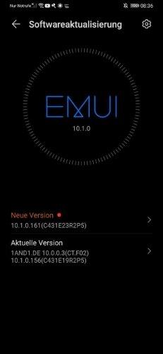 HUAWEI P30 Pro 10.1.0.161 Update