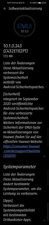 P40 Lite-Septemberpatch 2020