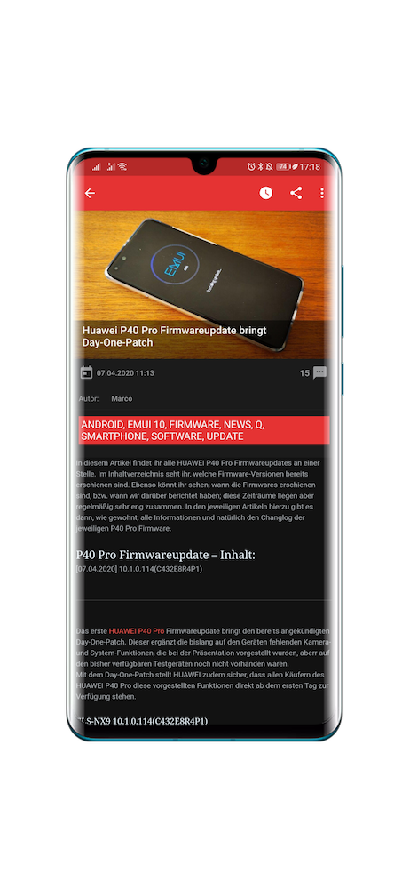 Release Notes Huawei.Blog App 3