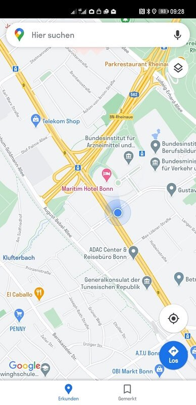 HUAWEI Google Apps Maps Karte