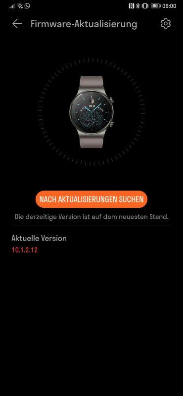Huawei Watch GT 2 Pro Firmwareupdate