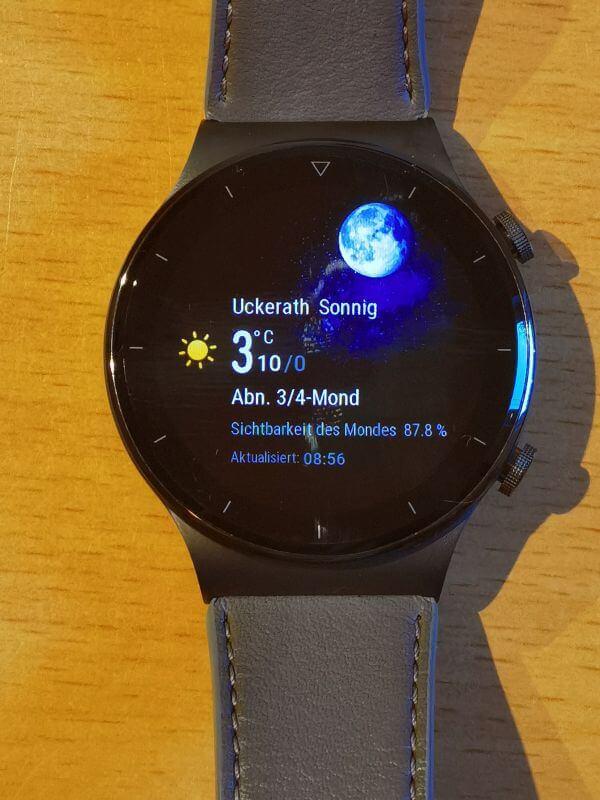 Huawei Watch GT 2 Pro Firmwareupdate Wetter
