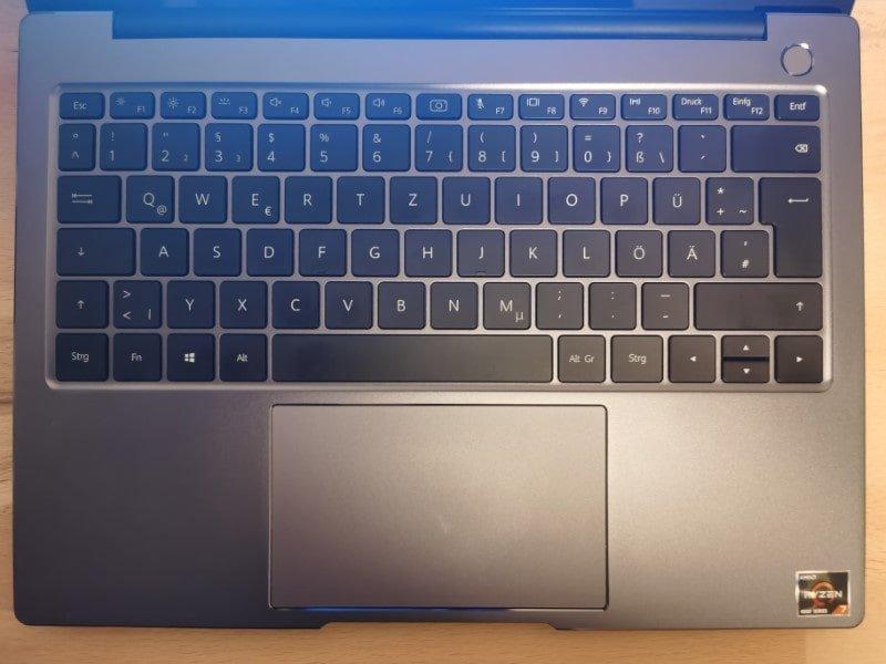HUAWEI Matebook 14 2020 Test Tastatur