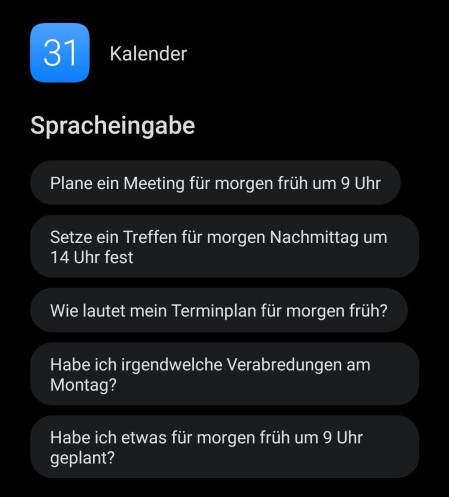 HUAWEI Sprachassistent Celia - Sprachbefehl - Kalender