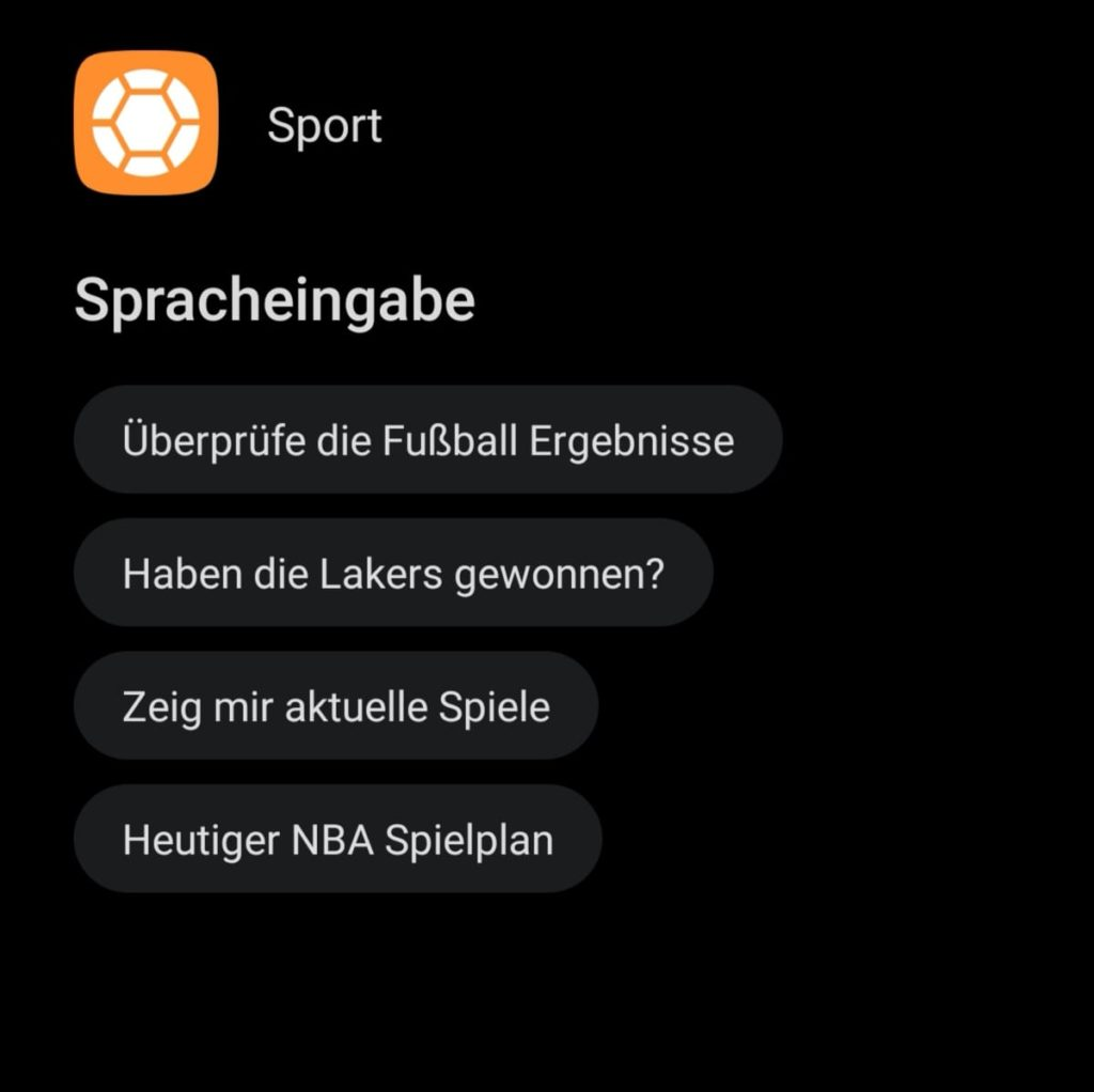 HUAWEI Sprachassistent Celia - Sprachbefehl - Sport