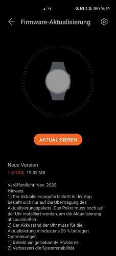 HUAWEI Watch GT2 Firmware Update 1.0.10.8
