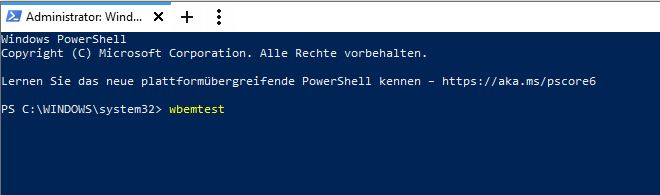 PC Manager PowerShell wbemtest