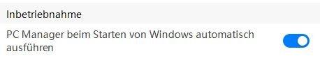 PC Manager Autostart