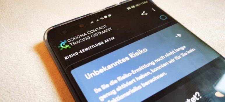 HUAWEI Corona App Header