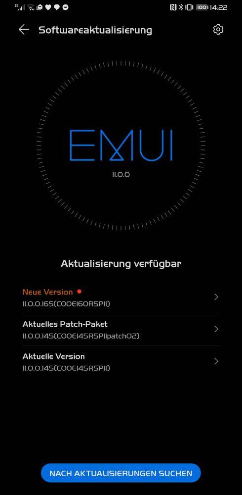HUAWEI Mate 30 Pro Firmwareupdate 11.0.0.165