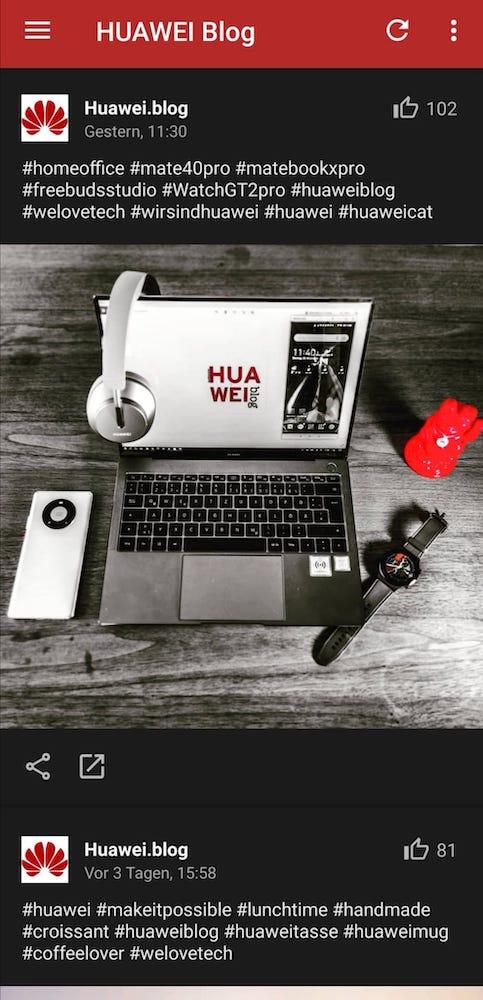 HUAWEI.blog News App - Instagram