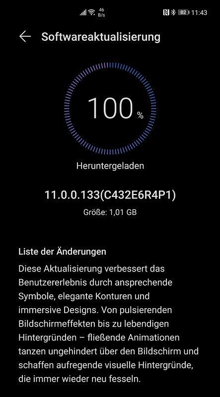 Huawei Mate 40 Pro Firmwareupdate Changelog 11.0.0.133 Dezember 2020_1