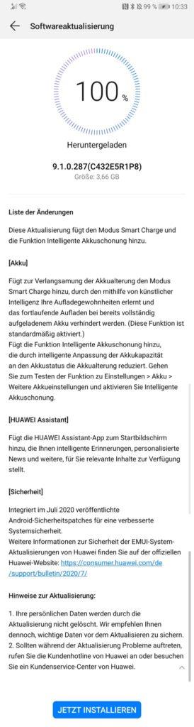 Huawei P10 Plus erhält Julipatch 2020 und neue Funktionen 1
